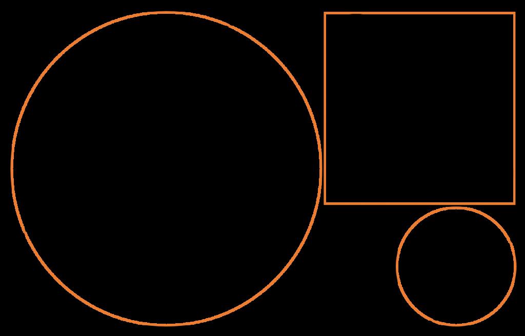 Logo Markus Vogl Grundformen und Fibonacci Spirale
